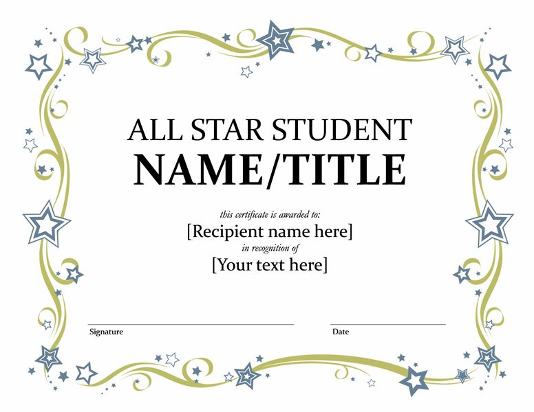 All Star Student Certificate - Templates - Office.com | Education ...