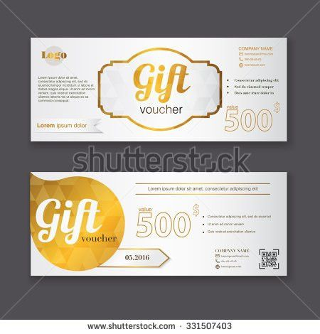 Gift Voucher Template Can Be Use Stock Vector 325296041 - Shutterstock