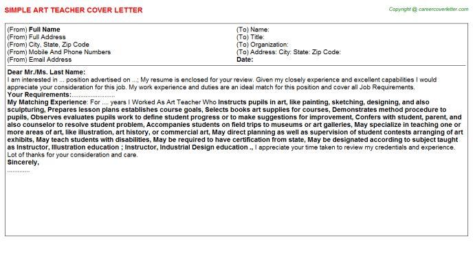 Art Teacher Job Title Docs