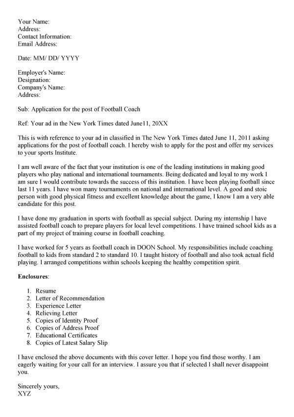 Hockey Coach Resume Cover Letter Baseball Coaching Resume Cover ...