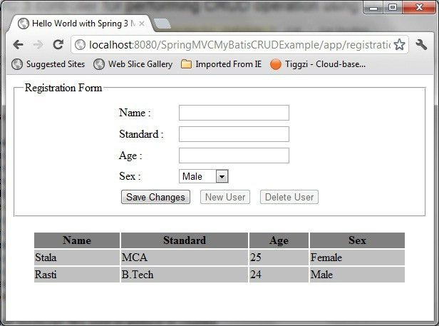 Spring MVC 3 controller for performing CRUD operation using ...
