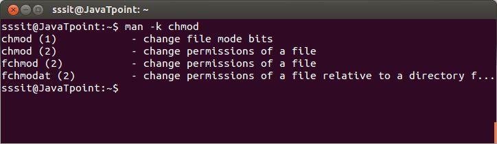Linux man -k - javatpoint