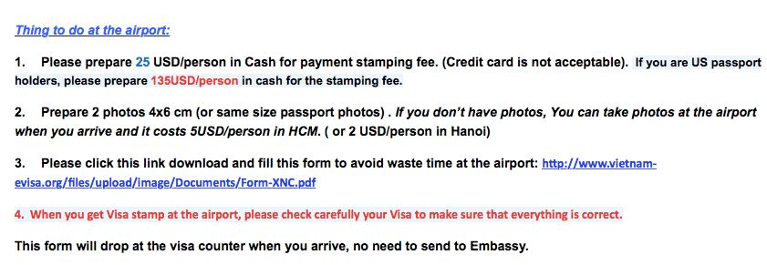 My successful experience getting a Vietnam Visa on Arrival ...