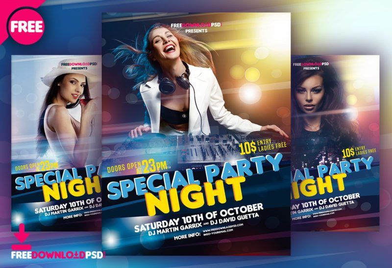 Night Party Flyer Free Download | FreedownloadPSD.com