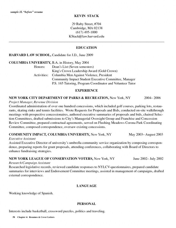 Law School Resume Objective   Best Resume Collection