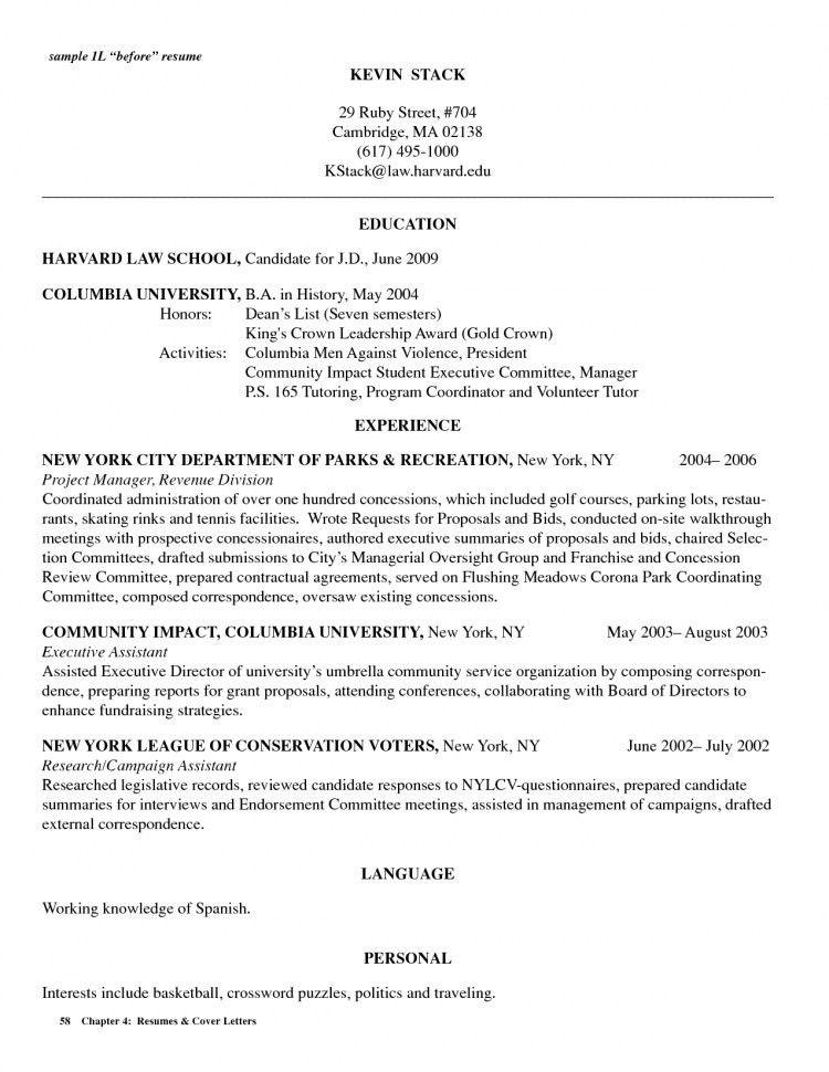 harvard resumes