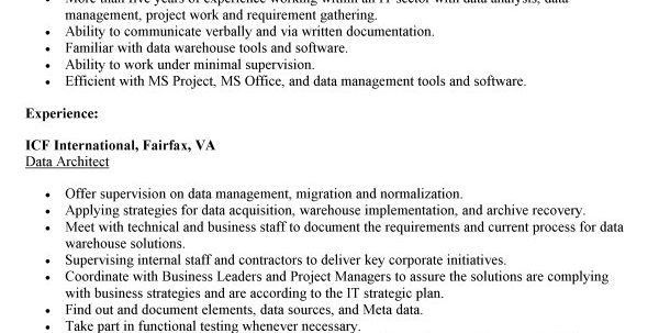 Database Architecture Resume Data Architect Resume Resume Template ...