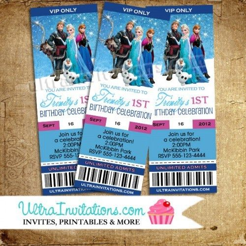 Disney Frozen Birthday Invitations Party - Custom Personalized