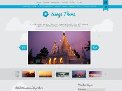 Visage Joomla Template | Joomla Photo Gallery Template for iPhone ...