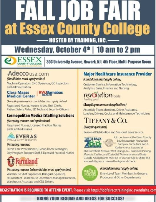 Essex County Job Fair: Whole Foods, Clara Maass, Turtle Back Zoo ...