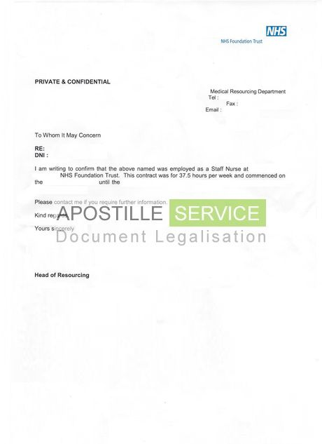 Apostille for Employment Letters