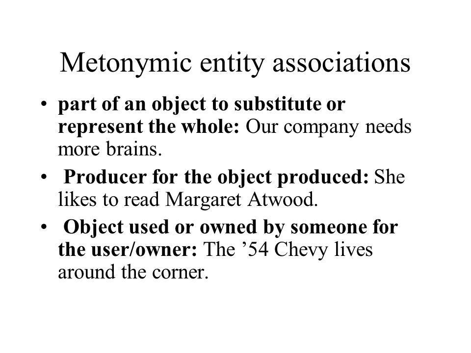 EXTENDED AND TRANSFERRED MEANING :Metaphor and Metonymy Shelley ...