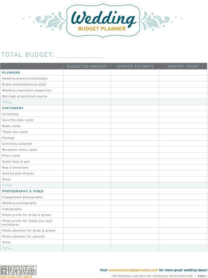 14 Useful Wedding Budget Planners | Kitty Baby Love