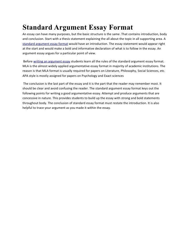 college essay format mla