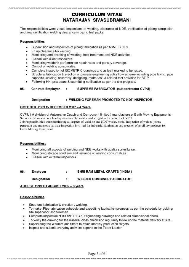 Resume - SIVA QA-QC ( MULTI- DISCIPLINE )