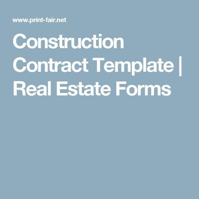 Best 25+ Construction contract ideas on Pinterest | Contract ...
