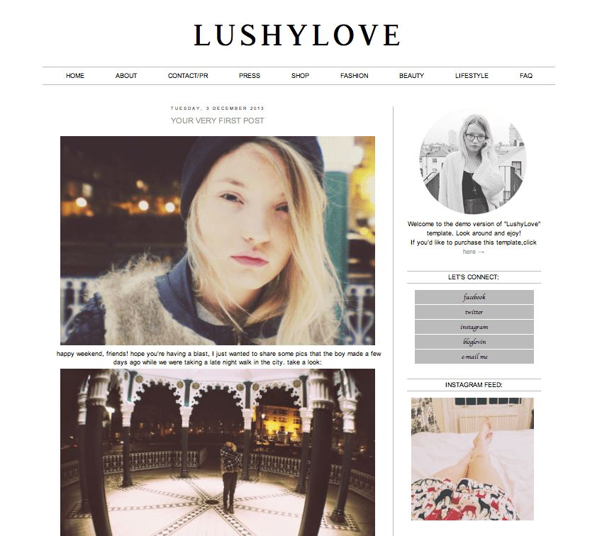 Fashion Blogger Templates. 18 fashion blog templates free premium ...