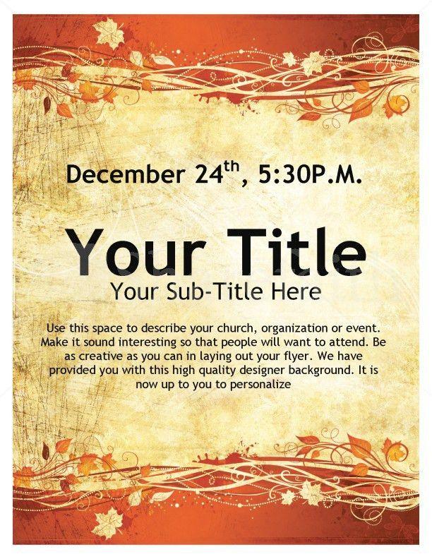 Thanksgiving Event Flyer Template | Flyer Templates