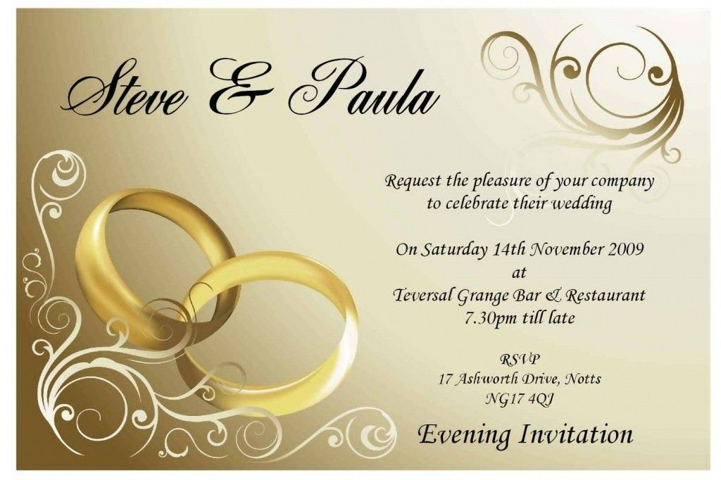 Enchanting Empty Wedding Invitation Cards 95 For Your Sample ...