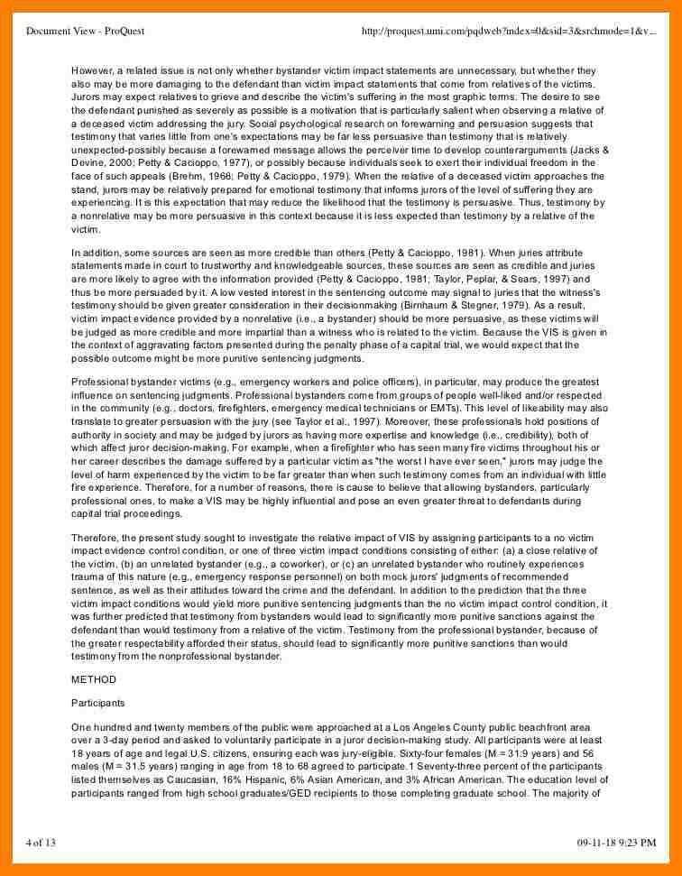 8+ victim impact statement sample | packaging clerks