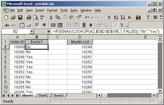 Excel: VLookup Example