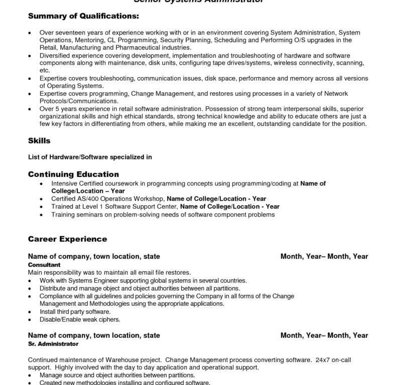 Download College Administration Sample Resume ...