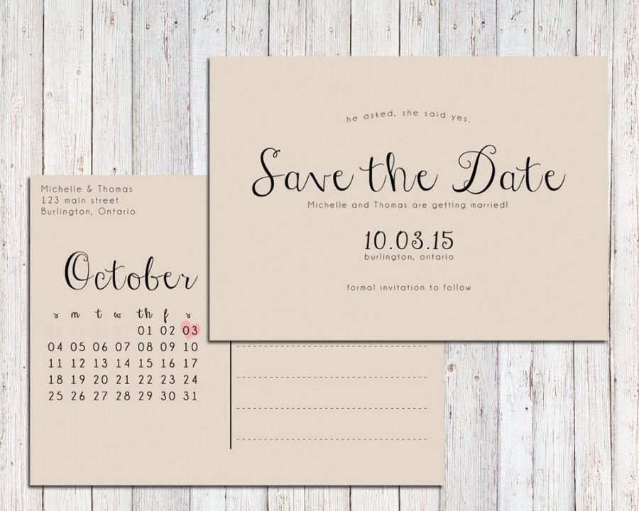 Printable Save The Date Postcard Templates Freebie Friday Save – Printable Postcard Template Free