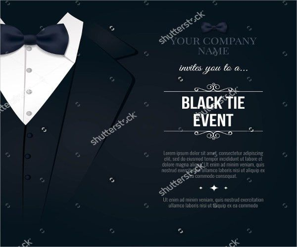 9+ Black-and-White Party Invitations - JPG, PSD, Vector EPS, AI ...