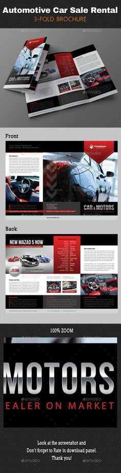 Car for sale template - Made for two car listings - Red and black ...