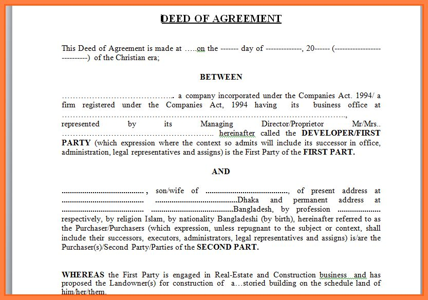 Free Printable Contract For Deed - Fiveoutsiders - free printable contract for deed