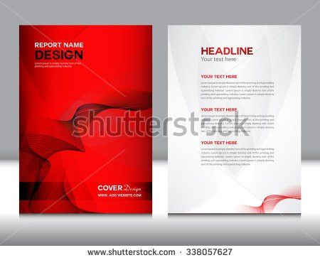 Red Cover Design Annual Report Template Stock Vector 372836416 ...