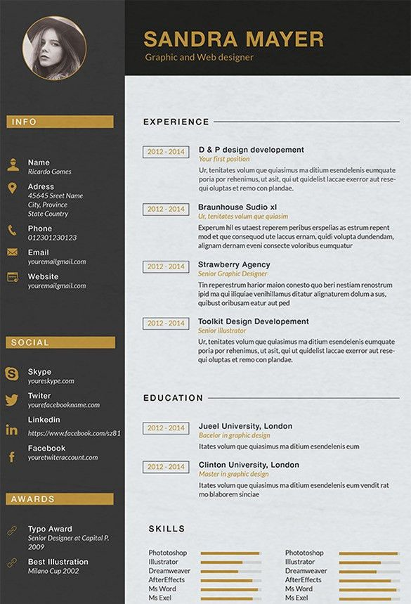 108 best images about cv on pinterest cool resumes graphic ...