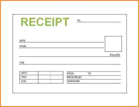 service receipts template free | receipts template