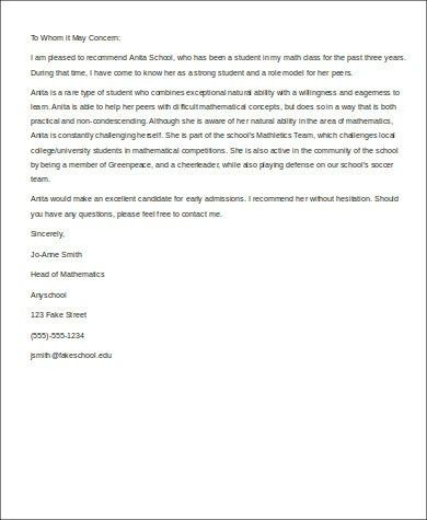 Sample Letter of Recommendation For a Friend - 6+ Examples in Word ...