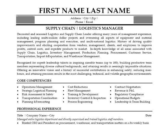 supply chain resumes chain manager resume resume sample 17