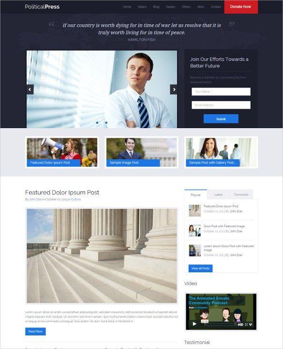 21+ Political Blog Themes & Templates | Free & Premium Templates