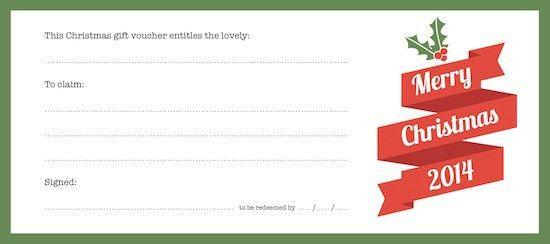 Printable Voucher Template : Helloalive
