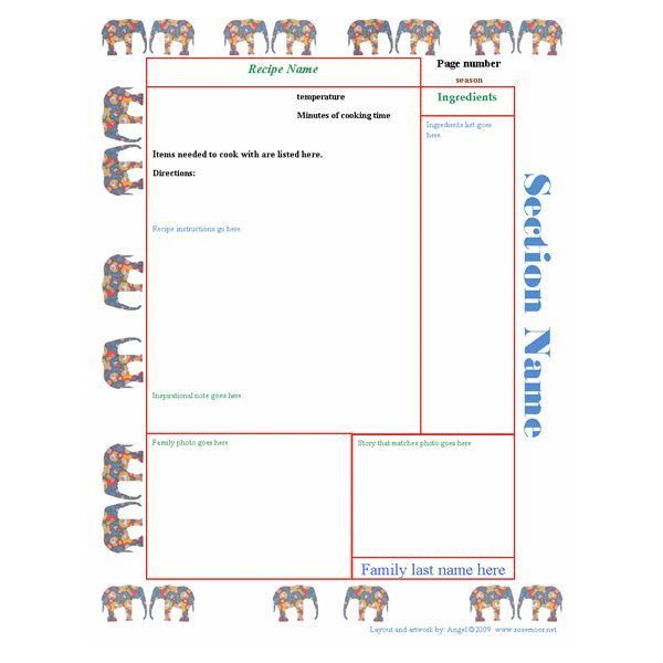 Recipe Book Templates. blank recipe template like this item ...