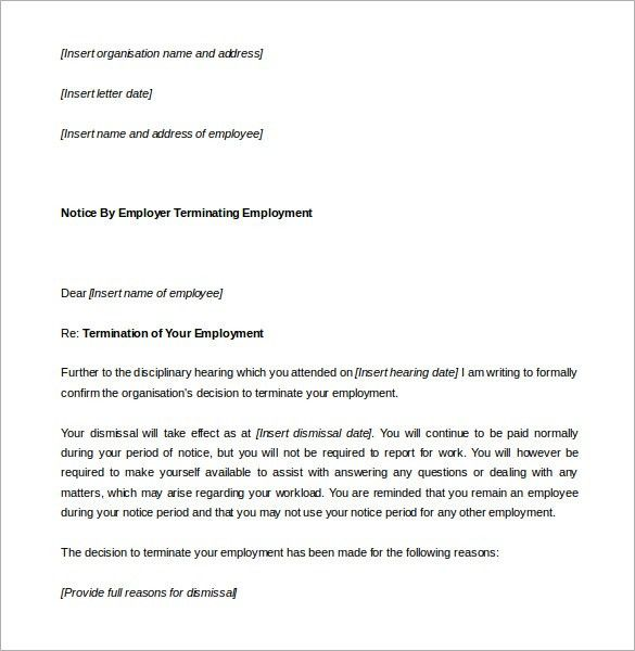 26+ Notice Period Letter Templates - Free Sample, Example Format ...