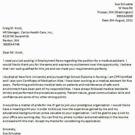24 Cover Letter Template For Resume Medical 21 Outstanding ...