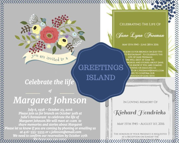 29 best Funeral Reception Invitations images on Pinterest ...