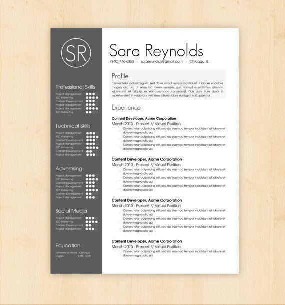 Resume Design Templates Downloadable 3481 | Plgsa.org