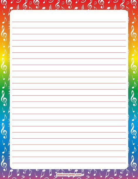 142 best Free Printable Stationery images on Pinterest | Writing ...