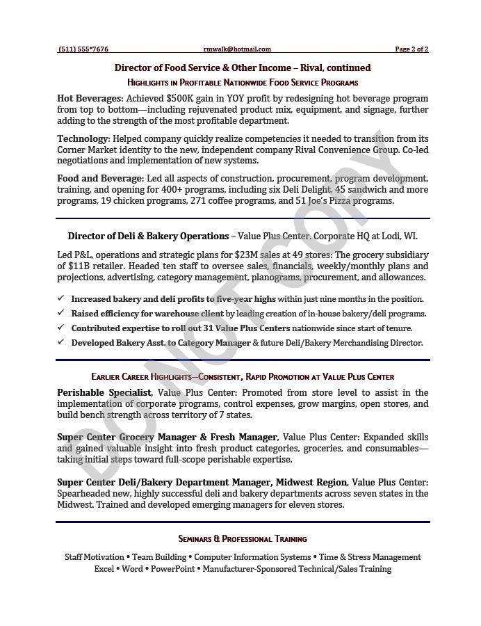 VP Resume / Vice President Resume Samples | Mary Elizabeth ...
