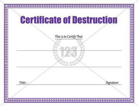 Download Certificate of Destruction Template ...
