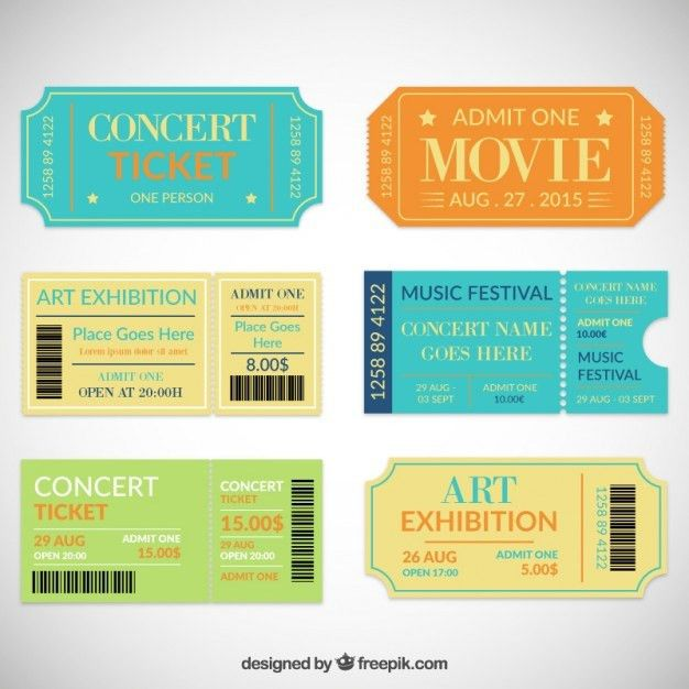Theatre ticket collection Vector | Free Download