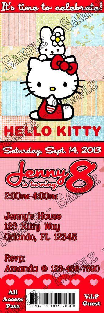 Novel Concept Designs - Hello Kitty Birthday Party Ticket ...