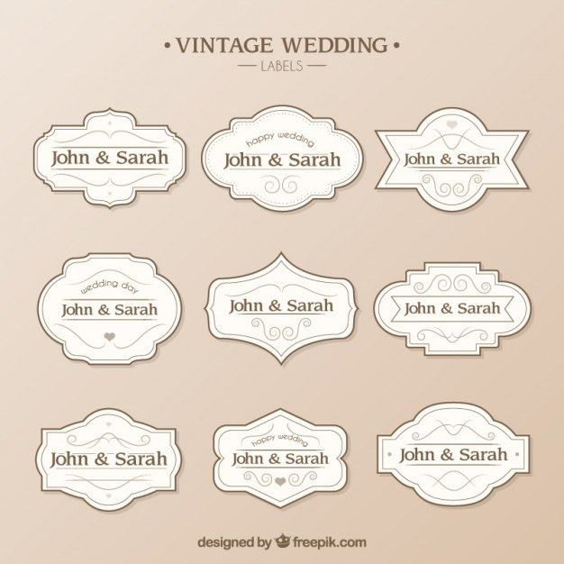 Wedding labels template Vector | Free Download