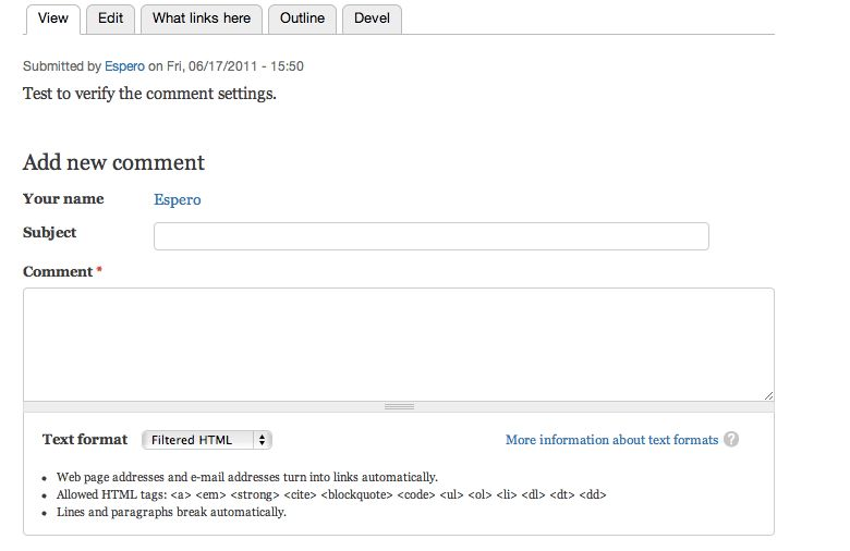 7 - Placing the comment form on a separate page - Drupal Answers