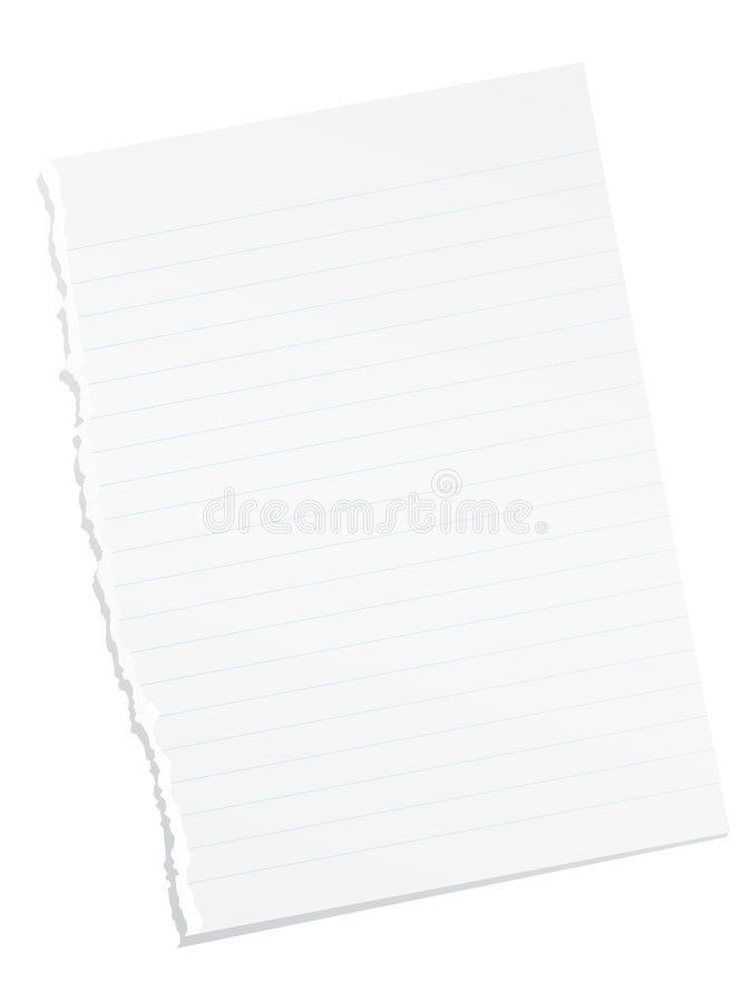 Ripped Blank Lined Paper Royalty Free Stock Images - Image: 7397069